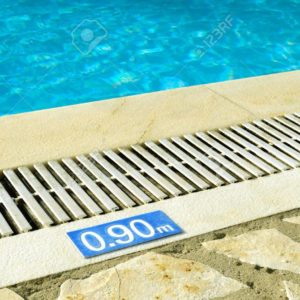 17036214 swimming pool with depth sign